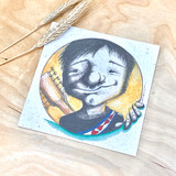 Boy With A Guitar | Recycled Paper Plantable Greeting Card | Handmade in South Africa
