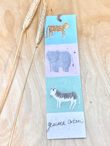 Growing Bookmarks | Wild Animals - Elephant