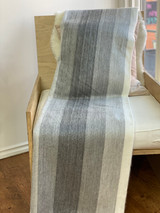 Alpaca Blanket | Blue Gamma | Handmade in Ecuador