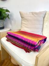 Alpaca Blanket | Multi Coloured | Handmade in Ecuador