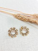Hand-Hammered Earrings | Flower | Gold Brass | Hand Hammered in Kenya