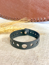 Up-Cycled Rubber Bracelet | Lace Leaf | Vegan Jewelry