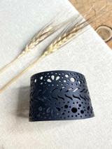 Up-Cycled Rubber Bracelet | Circles | Unisex Vegan Jewelry
