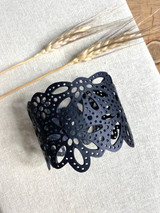 Up-Cycled Rubber Bracelet | Double Diamond | Unisex Vegan Jewelry