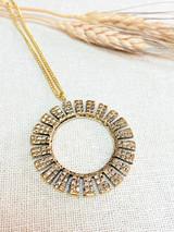 Hand-Hammered Necklace | Flower Drop | Gold Brass | Hand Hammered in Kenya