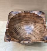Burned Wood Salad Bowl | Leaf - Small |  Jacaranda Wood | Handmade In Kenya