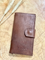 Womens Wallet | Genuine Leather - Brown | Handmade in Kenya