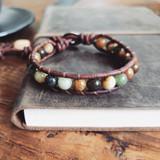 Gemstone Single Wrap Men's Bracelet | Jade | Handmade in Victoria