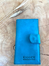 Womens Wallet | Genuine Leather - Turquoise | Handmade in Kenya