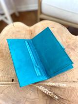 Womens Wallet | Genuine Leather - Turquoise | Handmade in Kenya