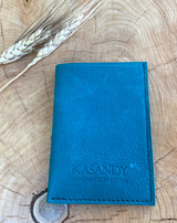 Genuine Leather Handmade Card Holder | Men's Wallet - Turquoise