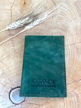 Genuine Leather Handmade Card Holder | Men's Wallet - dark green