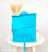 Leather Backpack Mini - Textured Teal | Genuine Leather | Women's | Handmade in Kenya