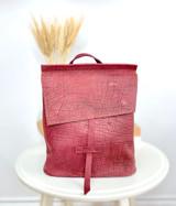 Leather Backpack Mini -  Textured Plum | Genuine Leather | Women's | Handmade in Kenya