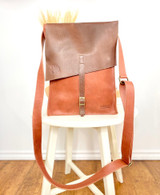 "Leather Backpack - Large fits 18"" Laptop 