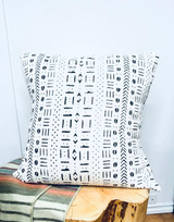Mud Cloth | Throw/Sofa Pillows | White | 20""