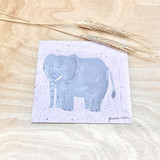 Elephant | Recycled Paper Plantable Greeting Card | Handmade in South Africa