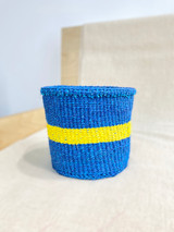 Kiondo Basket - Blue With Yellow Stripe | 6"