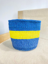 Kiondo Basket - Blue With Yellow Stripe | 8"