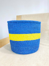 Kiondo Basket - Blue With Yellow Stripe | 10"