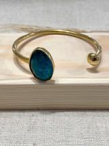 Aqua Stone Set | Hammered Brass | Made in Kenya