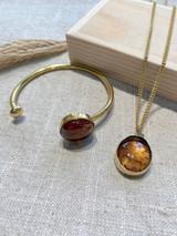 Round Amber Set | Hammered Brass | Made in Kenya