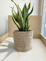 Kiondo Basket - Natural White and Banana Stem | 8"