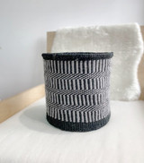 Kiondo Basket - Black with Grey Design | 10"