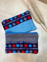"Coin Purse | Polka Dot & Stripes | Leather | 3""x 5"" | Handmade in Kenya"
