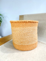 Kiondo Basket -  Natural with White Pattern | 10"
