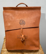 Leather Backpack Mini -  Reddish Brown   Genuine Leather   Women's   Handmade in Kenya