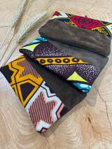 "Coin Purse | Yellow-Orange Pattern | Leather | 3""x 5"" | Handmade in Kenya"