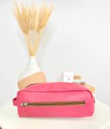 Pink Toiletry/Washbag - Large | Genuine Leather | Handmade in Kenya