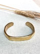 Hand-Hammered Bracelet | Oval Open Flat Bangle | Gold Brass | Hand Hammered in Kenya