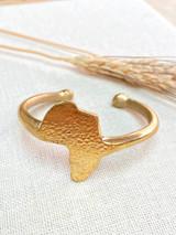 Hand-Hammered Bracelet | Africa Rough | Gold Brass | Hand Hammered in Kenya