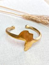 Hand-Hammered Bracelet | Africa Smooth | Gold Brass | Hand Hammered in Kenya