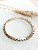 Hand-Hammered Bracelet | Jagged Closed Bangle | Gold Brass | Hand Hammered in Kenya