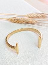 Hand-Hammered Bracelet | Open Eleven | Gold Brass | Hand Hammered in Kenya