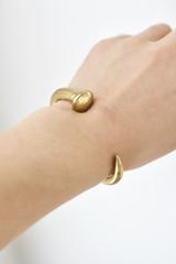Hand-Hammered Bracelet |  Open Nail Bangle | Gold Brass | Hand Hammered in Kenya