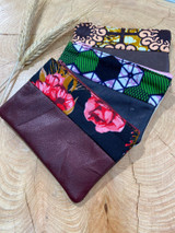 "Coin Purse | Floral Patterns | Leather | 3""x 5"" 