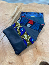 "Coin Purse | Blue Paisley Patterns | Leather | 3""x 5"" 