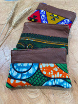 "Coin Purse | Green Paisley Patterns | Leather | 3""x 5"" 