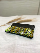 "Coin Purse | Forest Cheetah Print | Leather | 3""x 5"" 