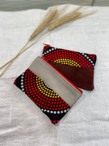 "Coin Purse | Dotted Sunrise | Leather | 3""x 5"" 