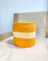 Kiondo Basket - Yellow with White Stripe | 8"