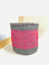Kiondo Basket - Black with Magenta Design | 10"