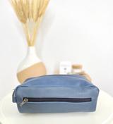 Dark Blue Toiletry/Wash Bag - Large | Genuine Leather | Handmade in Kenya