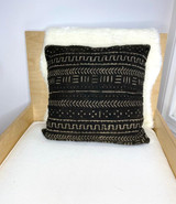 Mud Cloth | Throw/Sofa Pillows | Black | Medium - 18""