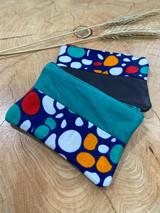 "Coin Purse | Polka Dot Pattern | Leather | 3""x 5"" | Handmade in Kenya"
