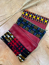 "Coin Purse | Dark Colour Patterns | Leather | 3""x 5"" 